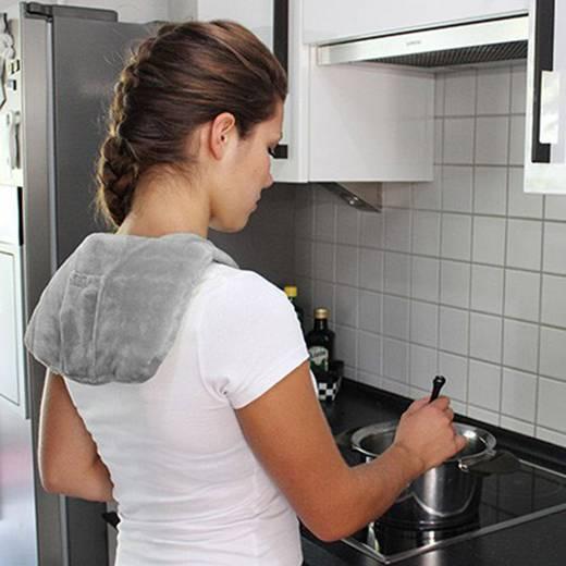 nacken schulter heizkissen 9 w hydas nackenheizkissen mit akku lh 1153 grau. Black Bedroom Furniture Sets. Home Design Ideas
