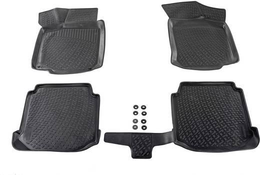 Fußmatte (fahrzeugspezifisch) Audi A6 TPE (Geruchneutrales Spezialgummigemisch) Schwarz DINO 136088