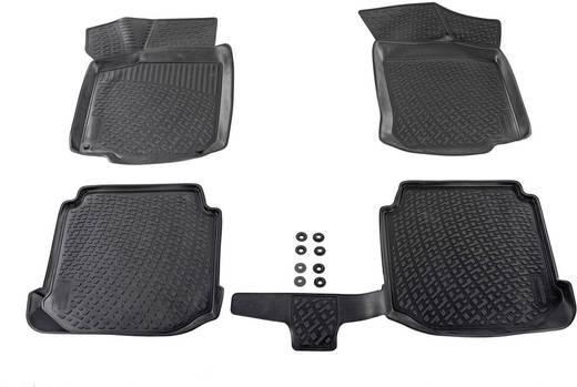 Fußmatte (fahrzeugspezifisch) Ford Connect 2 TPE (Geruchneutrales Spezialgummigemisch) Schwarz DINO 136093