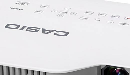 Casio Beamer XJ-A247 DLP Helligkeit: 2500 lm 1280 x 800 WXGA 2000 : 1 Weiß