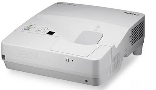 LCD Beamer NEC UM351Wi Multi-Touch Helligkeit: 3500 lm 1280 x 800 WXGA 4000 : 1 Silber