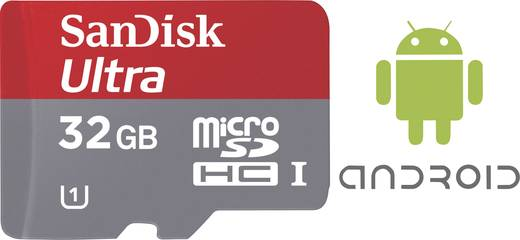 SanDisk Ultra® Android mit 80 MB/s und SanDisk Memory Zone Android App microSDHC-Karte 32 GB Class 10, UHS-I inkl. SD-Ad