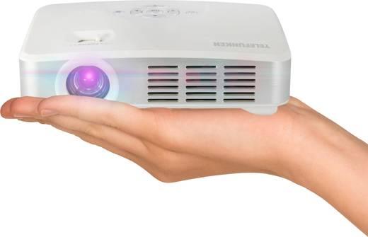DLP Beamer Telefunken DLP500 WIFI Helligkeit: 500 lm 1280 x 800 WXGA 1000 : 1 Weiß
