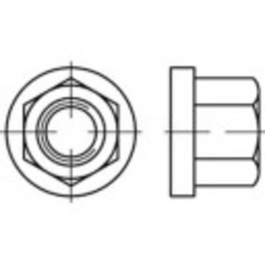 Sechskantmuttern mit Flansch M8 DIN 6331 Stahl galvanisch verzinkt 50 St. TOOLCRAFT 138174