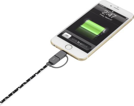Renkforce iPhone/iPod/iPad Ladekabel/Datenkabel [1x USB 2.0 Stecker A - 1x USB 2.0 Stecker Micro-B, Apple Lightning-Stec