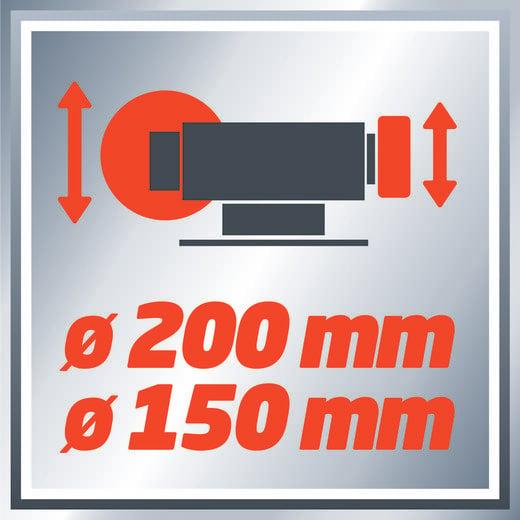 Einhell TC-WD 150/200 Nass-Trockenschleifer 250 W 150 mm, 200 mm 4417240