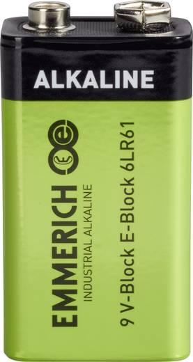 9 V Block-Batterie Alkali-Mangan Emmerich Industrial 6LR61 9 V 1 St.