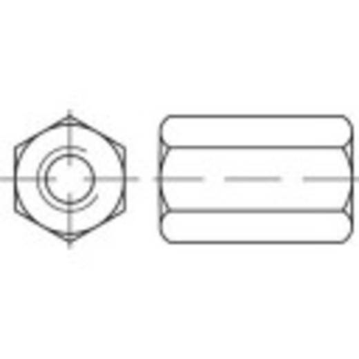 TOOLCRAFT 138241 Sechskantmuttern M30 DIN 6334 Stahl galvanisch verzinkt 10 St.