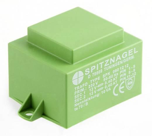 Printtransformator 1 x 230 V 2 x 12 V/AC 10 VA 417 mA SPK 0801212 Spitznagel