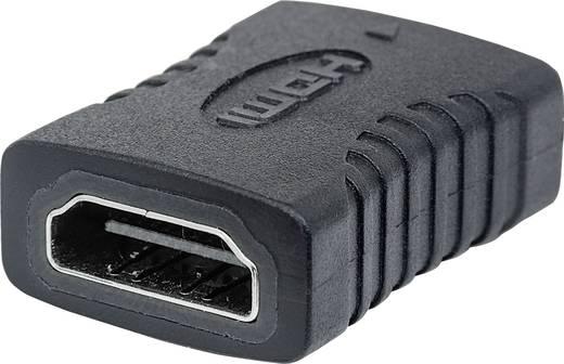 Manhattan HDMI Adapter [1x HDMI-Buchse - 1x HDMI-Buchse] Schwarz vergoldete Steckkontakte