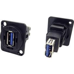 Zásuvka USB 3.0 typ A adaptér, vstavateľný Cliff CP30205N CP30205N, čierna, 1 ks