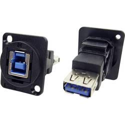 Zásuvka USB 3.0 typ B adaptér, vstavateľný Cliff CP30206N CP30206N, čierna, 1 ks