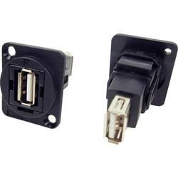 Zásuvka USB 2.0 typ A adaptér, vstavateľný Cliff CP30208N CP30208N, čierna, 1 ks