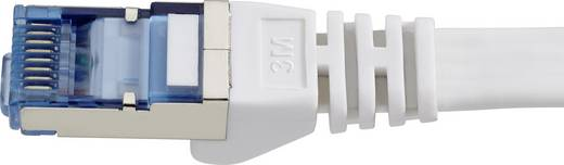 Renkforce RJ45 Netzwerk Anschlusskabel CAT 6a U/FTP 3 m Grau hochflexibel, mit Rastnasenschutz, Flammwidrig