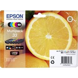 Sada náplní do tlačiarne Epson T3337, 33 C13T33374511, čierna, foto čierna, zelenomodrá, purpurová, žltá