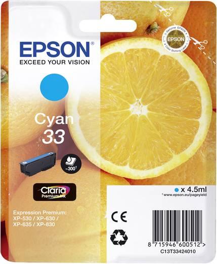 Epson Tinte T3342, 33 Original Cyan C13T33424010
