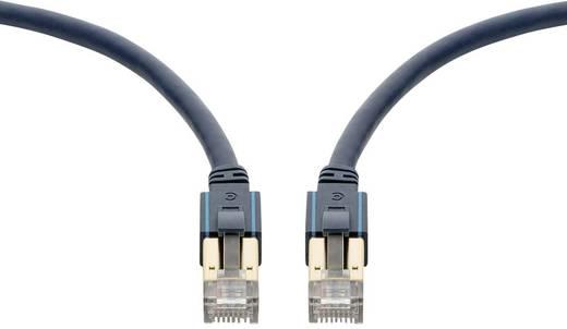 clicktronic RJ45 Netzwerk Anschlusskabel CAT 6a S/FTP 1 m Dunkelblau mit Rastnasenschutz, Flammwidrig