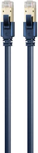 RJ45 Netzwerk Anschlusskabel CAT 6a S/FTP 1 m Dunkelblau mit Rastnasenschutz, Flammwidrig clicktronic