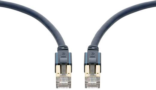 RJ45 Netzwerk Anschlusskabel CAT 6a S/FTP 2 m Dunkelblau mit Rastnasenschutz, Flammwidrig clicktronic