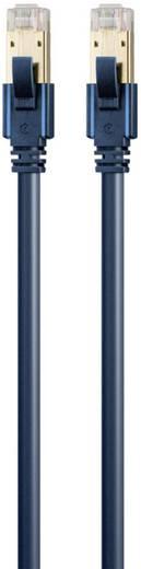 RJ45 Netzwerk Anschlusskabel CAT 6a S/FTP 5 m Dunkelblau mit Rastnasenschutz, Flammwidrig clicktronic