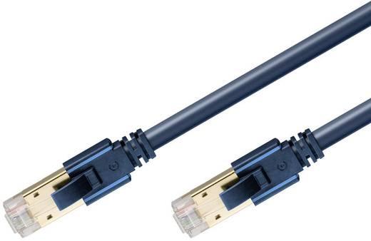clicktronic RJ45 Netzwerk Anschlusskabel CAT 6a S/FTP 5 m Dunkelblau mit Rastnasenschutz, Flammwidrig