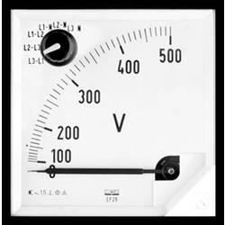 Analogové panelové měřidlo Lumel EP27 500V 500 V/AC Elektromagnetický
