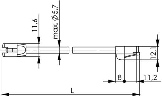 RJ45 Netzwerk Anschlusskabel CAT 5e F/UTP 2 m Grau Flammwidrig, Halogenfrei Telegärtner