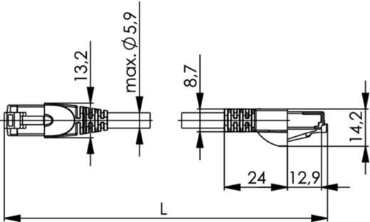 RJ45 (gekreuzt) Netzwerk Anschlusskabel CAT 6a S/FTP 1 m Rot Flammwidrig, Halogenfrei Telegärtner