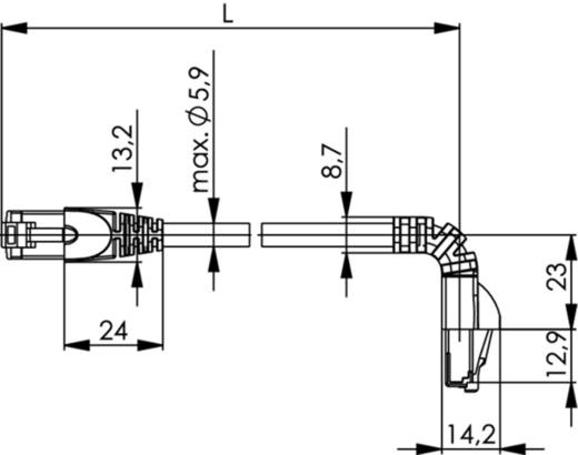 RJ45 Netzwerk Anschlusskabel CAT 6a S/FTP 0.5 m Schwarz Flammwidrig, Halogenfrei Telegärtner