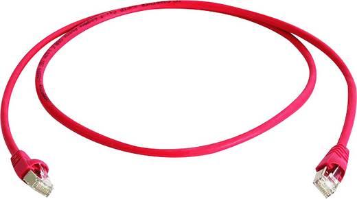Telegärtner RJ45 Netzwerk Anschlusskabel CAT 6a S/FTP 25 m Rot Flammwidrig, Halogenfrei