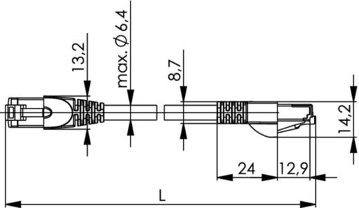 RJ45 Netzwerk Anschlusskabel CAT 6 S/FTP 1 m Gelb-Grün Telegärtner