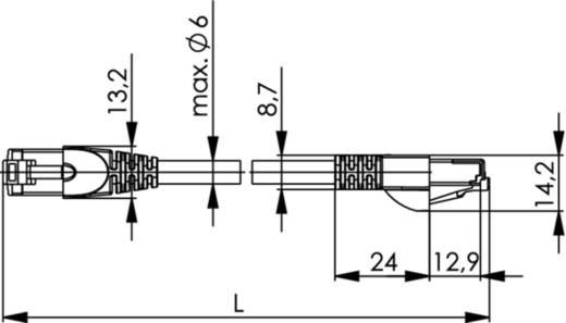 RJ45 Netzwerk Anschlusskabel CAT 5 SF/UTP 3 m Gelb-Grün Telegärtner