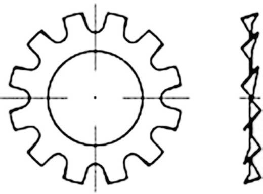 Zahnscheiben Innen-Durchmesser: 31 mm DIN 6797 Federstahl galvanisch verzinkt 100 St. TOOLCRAFT 138373