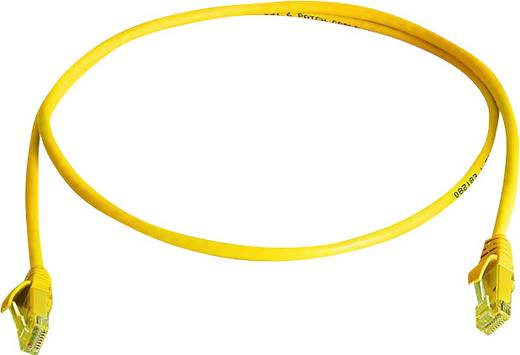RJ45 Netzwerk Anschlusskabel CAT 6 U/UTP 1 m Gelb Flammwidrig, Halogenfrei Telegärtner