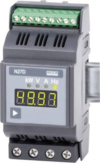 Lumel N27D 00E0 1-Phasen DIN-Schienen-Multimeter 2.3 - 276 V/AC0.6 - 75 A/AC2 - 500 Hz±31.5 kW