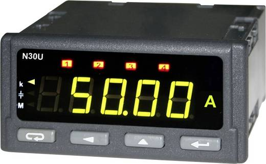 Lumel N30U 120000E0 Programmierbares Einbaumessgerät für Prozesssignale, Thermoelemente und Temperaturfühler Einbaumaß