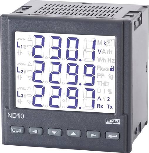 Lumel ND10 22000E0 Programmierbares 3-Phasen Multimeter Einbaumaße 96 x 96 mm