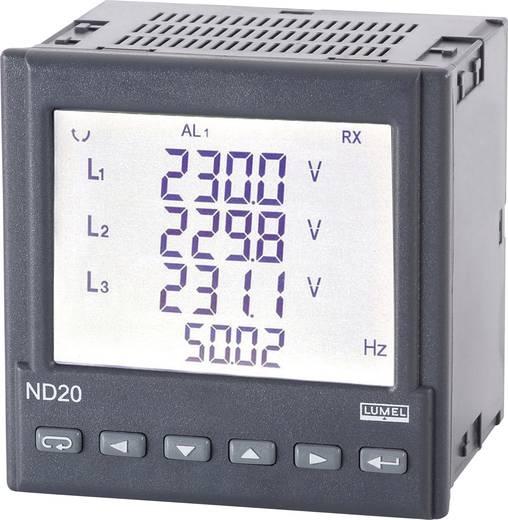 Lumel ND20 221100E0 Programmierbares 3-Phasen Multimeter Einbaumaße 96 x 96 mm