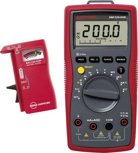 Beha Amprobe AM-520-EUR Hand-Multimeter digital Kalibriert nach: Werksstandard (ohne Zertifikat) CAT III 600 V