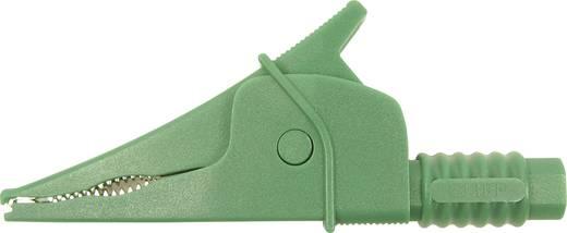 Sicherheits-Abgreifklemme Steckanschluss 4 mm CAT III 1000 V Grün Cliff Croc Clip