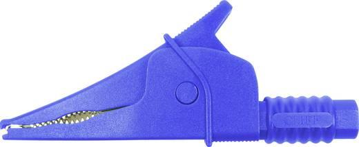 Sicherheits-Abgreifklemme Steckanschluss 4 mm CAT III 1000 V Blau Cliff Croc Clip