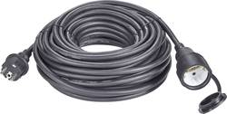 Napájecí prodlužovací kabel Renkforce 1384363, IP44, černá, 10 m