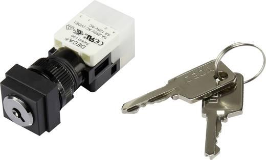 Schlüsselschalter 250 V/AC 5 A 1 x Aus/Ein 1 x 90 ° DECA ADA16K6-AS0-DF IP65 1 St.