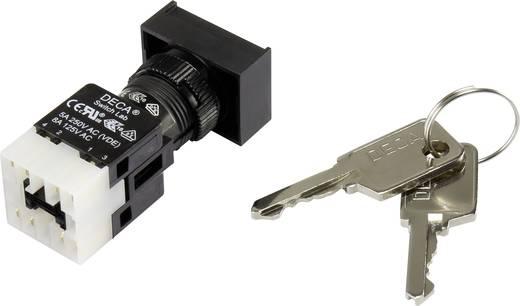 Schlüsselschalter 250 V/AC 5 A 1 x Aus/Ein 1 x 90 ° DECA ADA16K6-AT0-CC IP65 1 St.