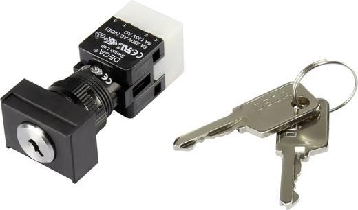 Schlüsselschalter 250 V/AC 5 A 1 x Aus/Ein 1 x 90 ° DECA ADA16K6-AT0-CG IP65 1 St.