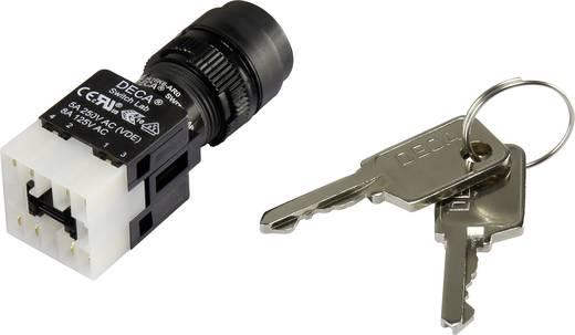 Schlüsselschalter 250 V/AC 5 A 1 x Ein/Aus/Ein 2 x 90 ° DECA ADA16K6-AR0-CH IP65 1 St.