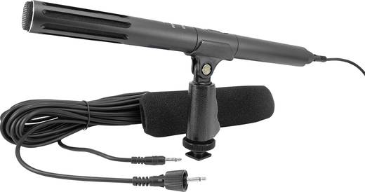 Kamera-Mikrofon Renkforce EM-2800 Übertragungsart:Kabelgebunden inkl. Kabel, inkl. Klammer, inkl. Windschutz