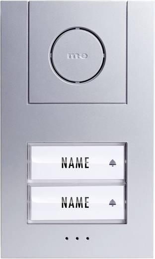 m-e modern-electronics 41005 Türsprechanlage Kabelgebunden Außeneinheit 2 Familienhaus Silber, Weiß