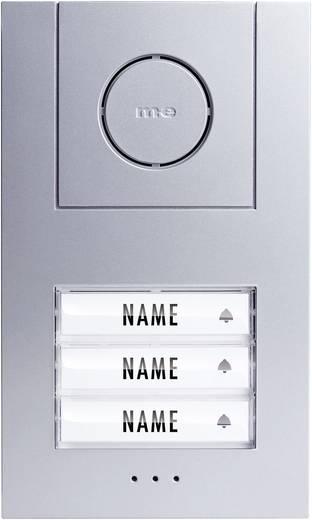 m-e modern-electronics 41006 Türsprechanlage Kabelgebunden Außeneinheit 3 Familienhaus Silber, Weiß
