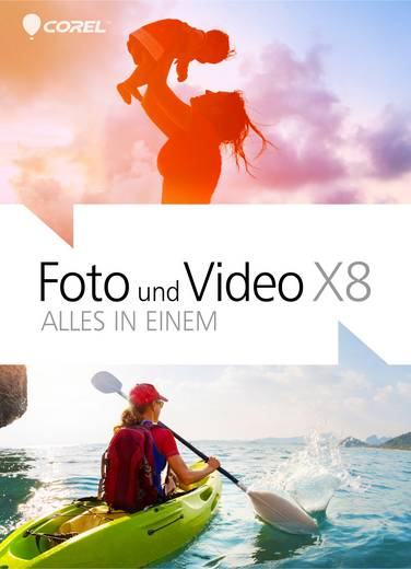 Corel Foto und Video X8 Vollversion, 1 Lizenz Windows Bildbearbeitung, Videobearbeitung